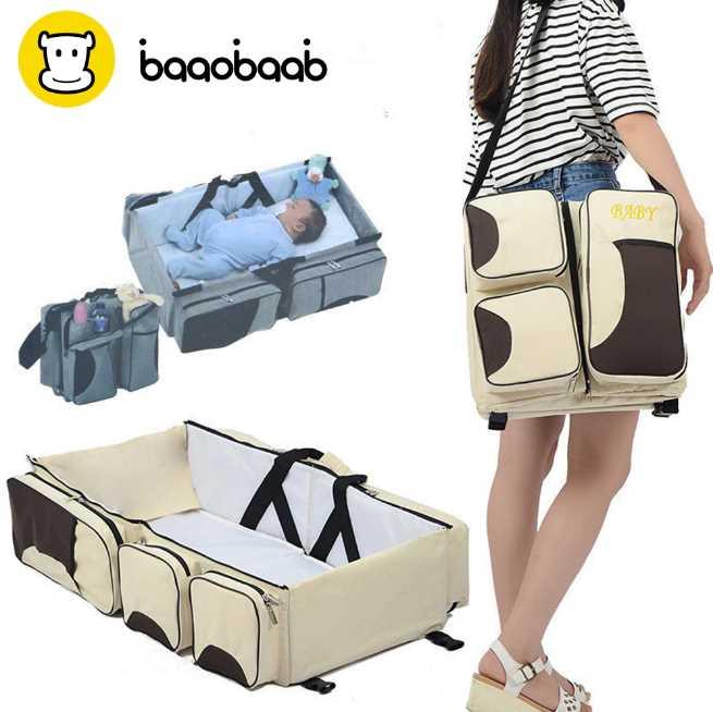 BAAOBAAB LXC07 Многофункциональный портативный путешествия кроватка-колыбель кроватку для новорожденных изменение Подгузники Мумия чемоданчик новорожденных детские кроватки