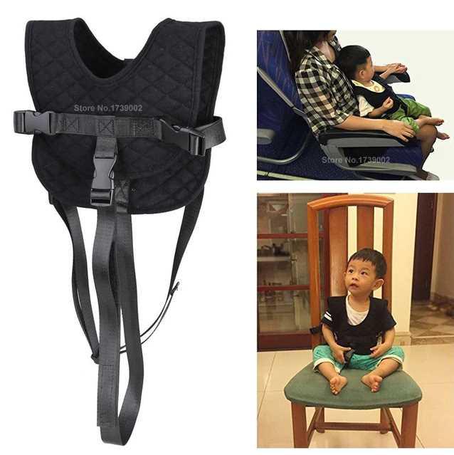 Для малышей самолет перелет ремня портативный дети стул ремень корзину жилет безопасности Сдержанность системы