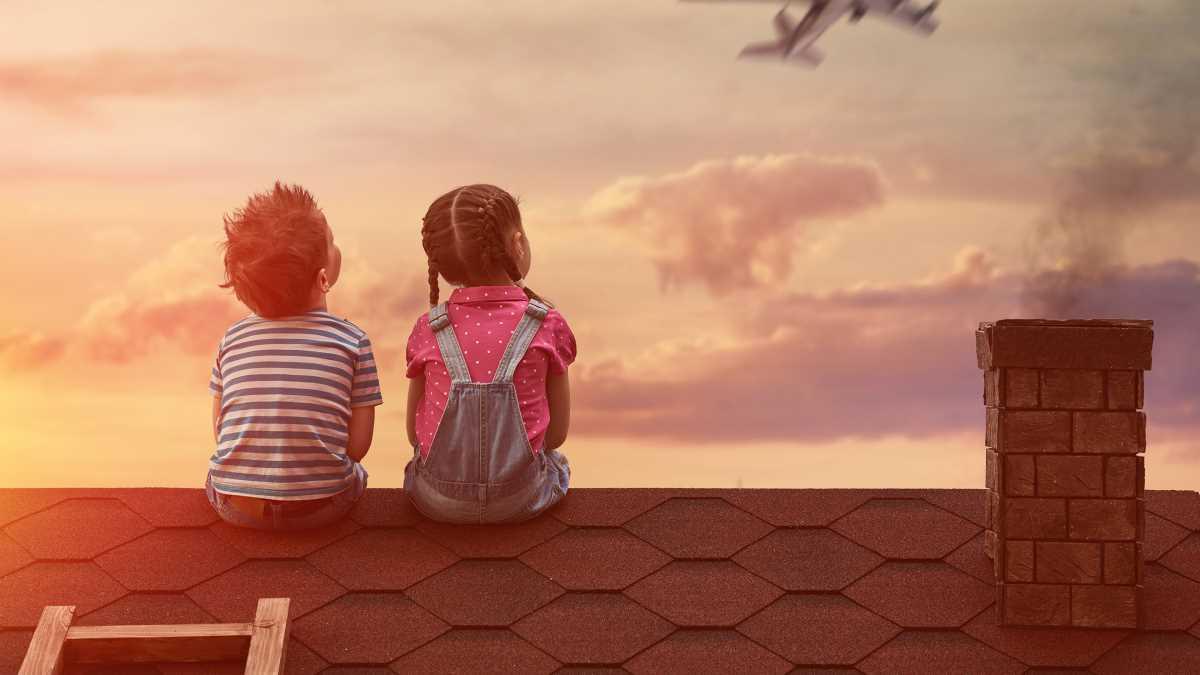 дети в самолете астана