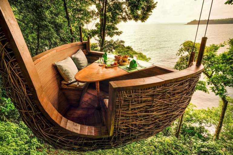 Ресторан на дереве в Тайланде