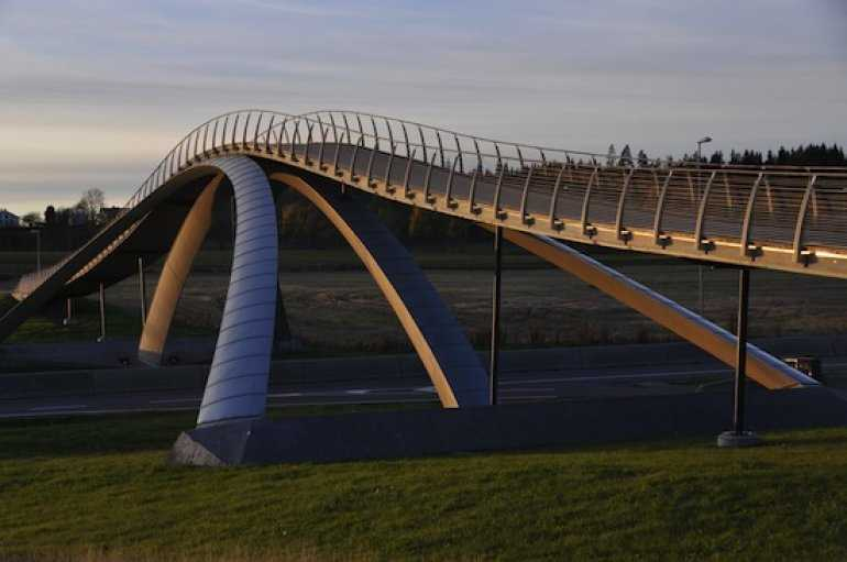 Мост Леонардо да Винчи - в Норвегии