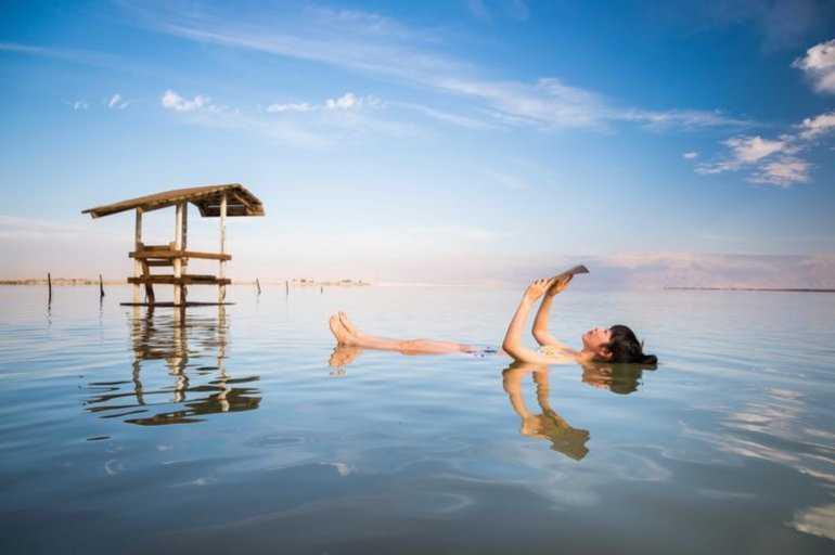 Красота берегов мертвого моря