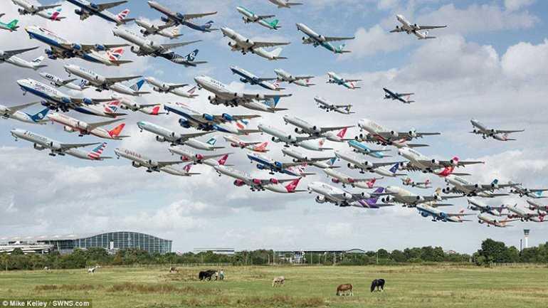 200 000 лайнеров в одном небе.