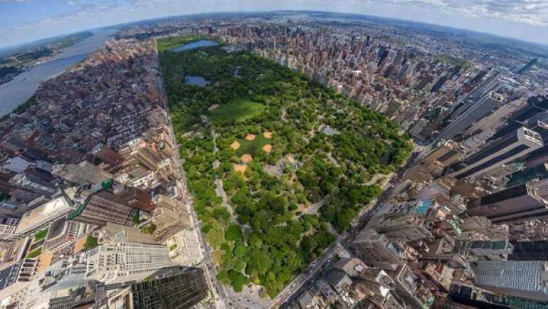Семейный отдых в центральном парке Нью-Йорка