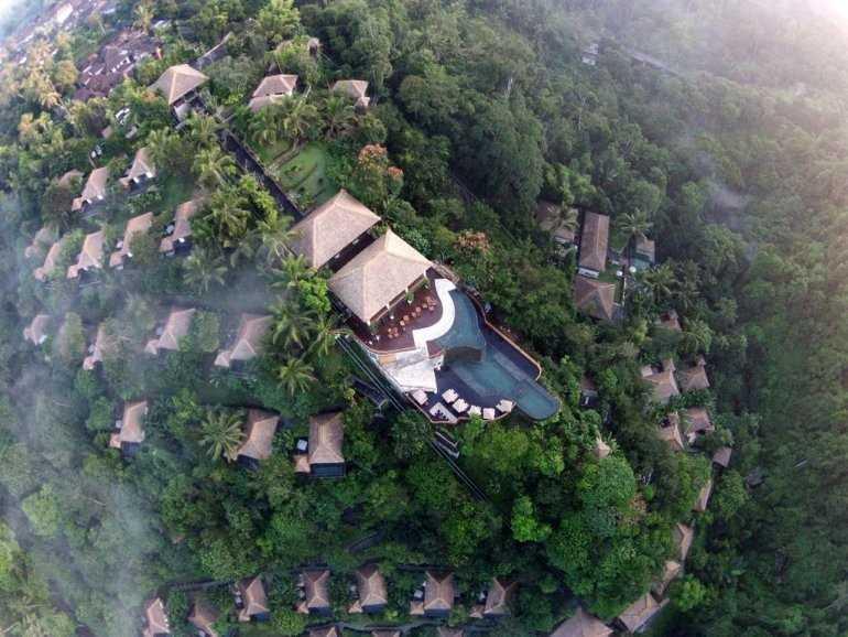 Отель Ubud Hanging Gardens – затерянный в Индонезии