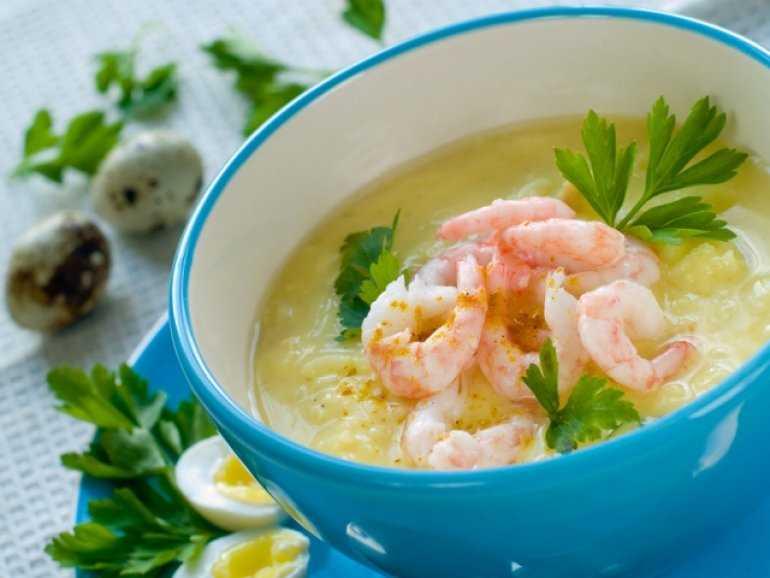 Тайский рисовый суп с креветками (Тьок Кунг )