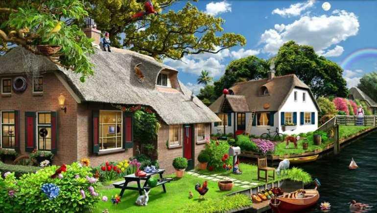 Почему в голландской деревне Гитхорн нет улиц