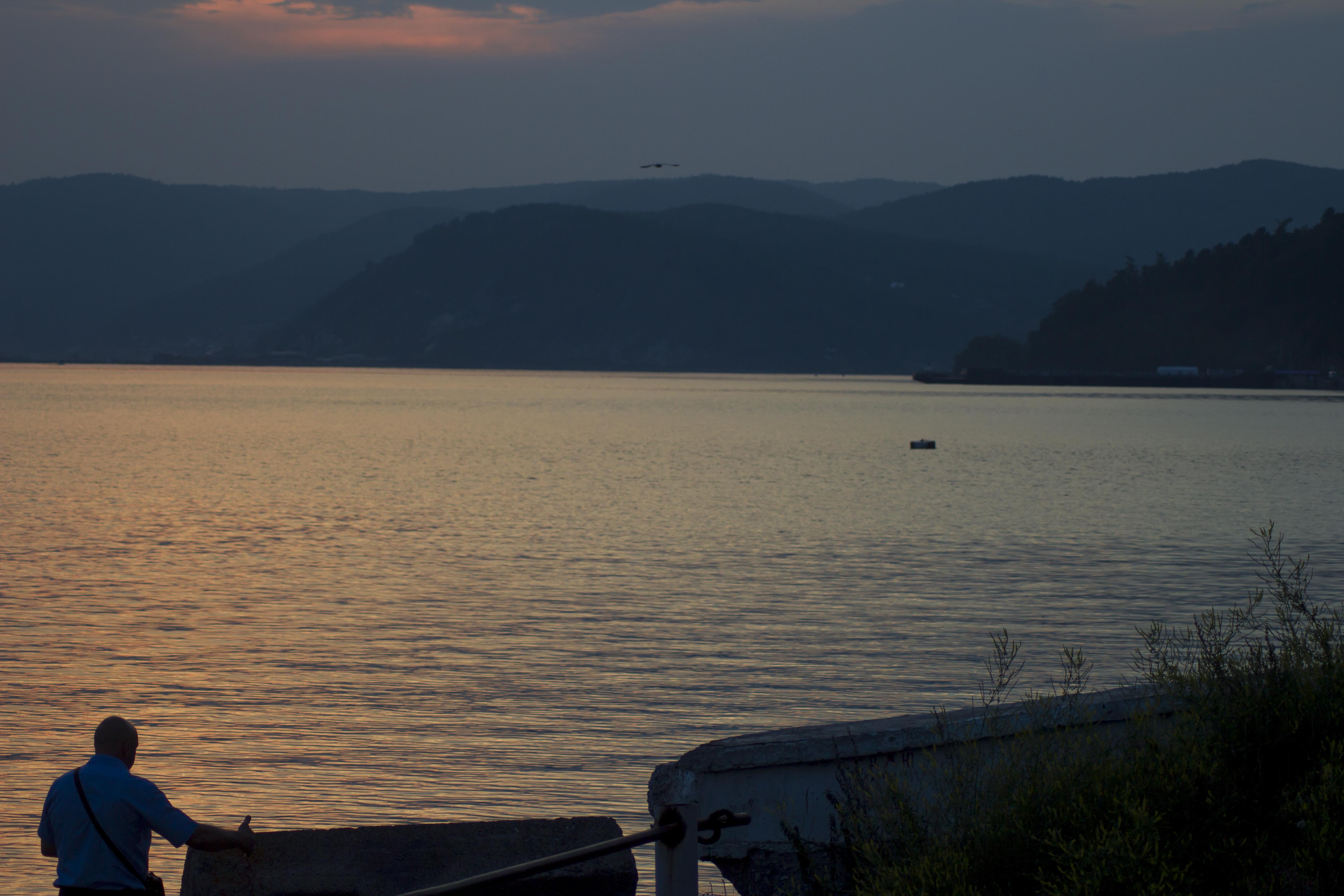 Закат на Байкале. Листвянка